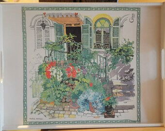 """Large tray in theme: """"Garden"""""""