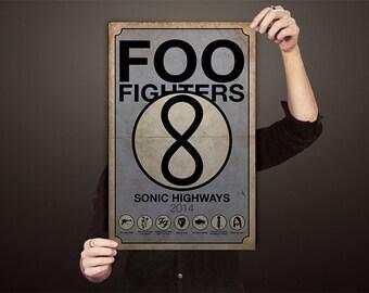 Foo Fighters Sonic Highways Poster