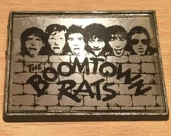 Vintage Boomtown Rats 1970's Mirror Badge