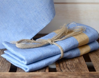 READY TO SHIP -2 French Blue Linen  Towels/ Nauticcal towel /shabby chic kitchen /  as seen in Better Homes and Gardens