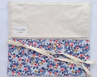 Artist Roll or Pen Roll // Rosa in Periwinkle by Rifle Paper Co