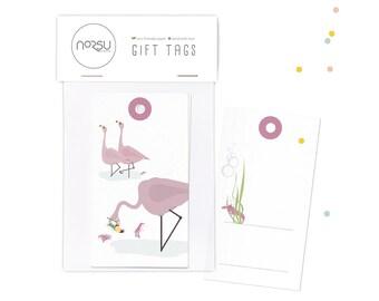 Gift tags - Flamingo   10 pcs - 5 x 9 cm / 19.7 x 27.5 inches