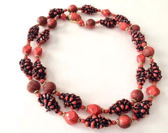 Mod 60's Beaded Necklace, West Germany