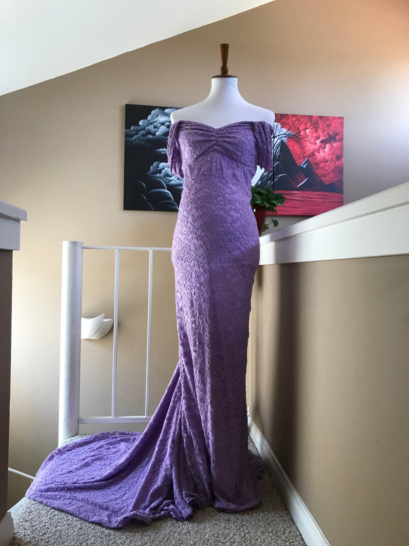 Ingrid lavender maternity gown maternity dress slim fit