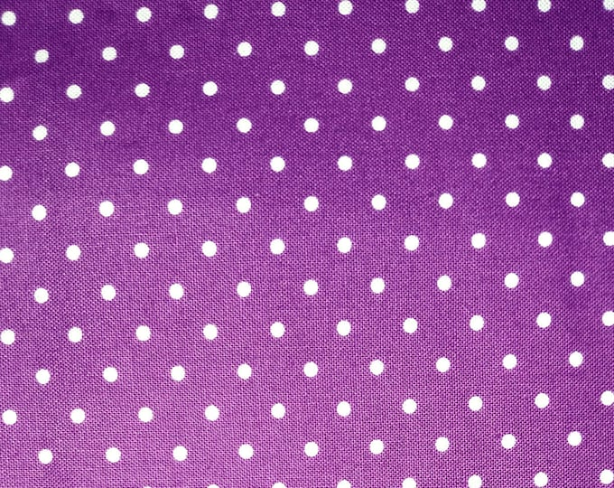 Purple and white dot Stock Tie