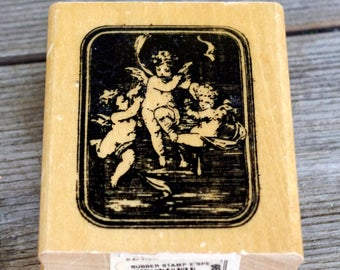 Anita's Wood Mounted Rubber Stamp Home Angels