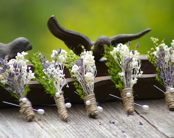 ONE Boutonniere Real Dried Lavender