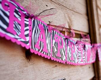 Zebra birthday party Etsy