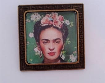Frida Kahlo Bronze Brooch