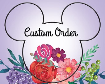 Custom mouse ears, disney ears, minnie mouse ears, princess mouse ears, wire mouse ears, disney mouse ears, wire ears