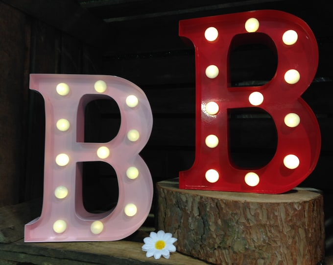 Vintage Carnival Style Light up Letter B - Battery Operated