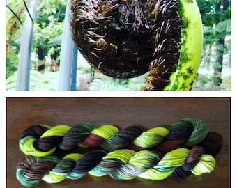 "Hand dyed ""Koru"" Yarn 100% New Zealand Corriedale wool 8 ply"