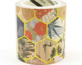 Fabric Design - Japonisme Series 12 - Japanese Washi Masking Tape - 50mm wide - 5.5 yard