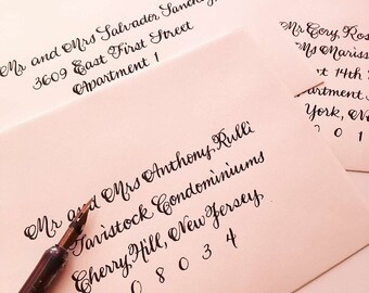 WEDDING CALLIGRAPHY ROSEMARIE : Custom Wedding Calligraphy Envelope Addressing