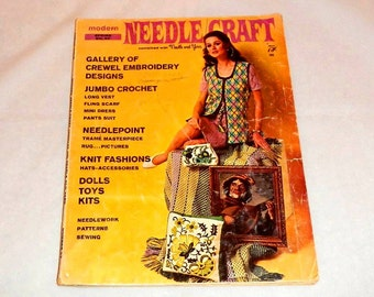 Modern Needlecraft Magazine Spring 1970 No.57 Vintage Needle and Yarn Patterns