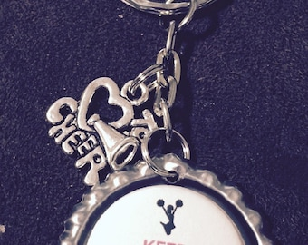 Keep Calm and Cheer On Keychain