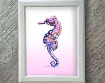 Baby Girl - Baby Girl Gift - Baby Girl Nursery - Seahorse - Seahorse Print - Baby Gifts - New Baby Girl - New Baby Gift - New Baby Girl Gift