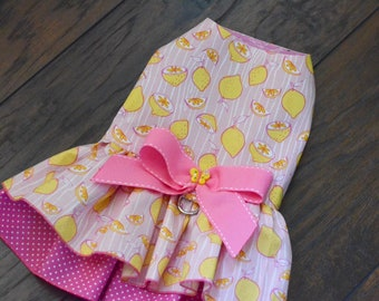 Lemondade dress for a dog