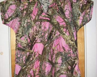 True Timber Pink Camo Scrub Shirt Any Size