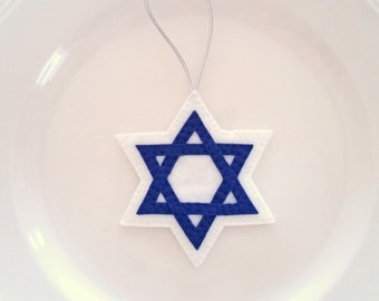 Star of David - Chanukah Felt Christmas Handmade Ornament