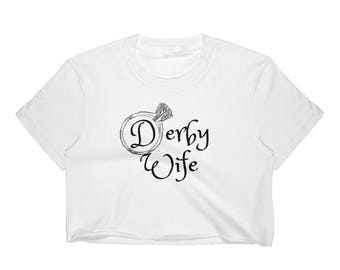 Roller Derby Wife Engagement Ring Womens Crop Top Small Medium Large XL