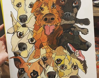 Abstract Line Art Pet Portraits