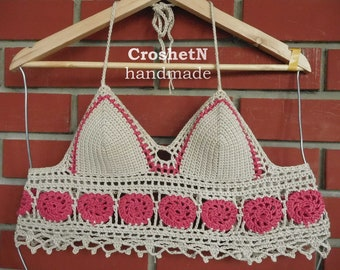 Crochet bikini top Crochet bikini Crochet top Swimsuit Crochet swimwear top  Crochet beachwear Crochet swimsuit bikinis -MADE TO ORDER 17056