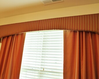 Upholstered Cornice Board and Fully Lined Drapery Panels (Office Area) - Price is an approximation only