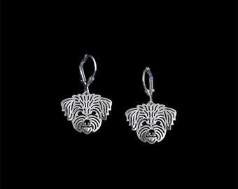 Havanese (in puppy/pet haircut) earrings - sterling silver.