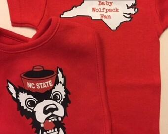 Baby Wolfpack Fan bodysuit/Baby Wolfpack Fan baby bodysuit/Wolfpack baby clothes/Wolfpack Baby Gift/NC State/NC State Wolfpack baby gift
