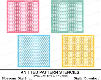 Knitted Pattern Stencil Backgrounds, knit stencil, christmas jumper, knitted wool svg cut file, repeat pattern eps, wool template