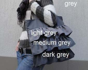 Customizable Tote Bag for color Fabric and Size - interior POCKETS - Shoulder Bag / Water resistant lining - can be any size and color