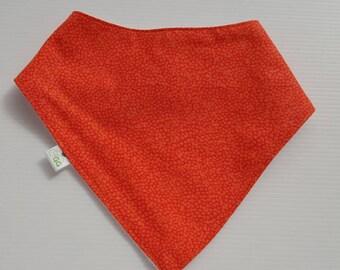 Bright Orange Bandana Bib