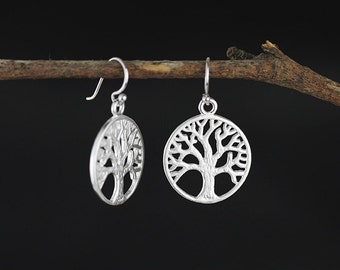 Mother Tree Dangle Earring Tree Of Life Dangle Earring Sterling Silver Dangle Earring Gold-plated Dangle Earring