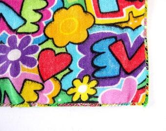 Flower Power Bandana, Colorful Vintage Headband