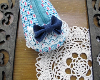 PDF Sewing Pattern Cute Baby Shoe Zippered Coin Purse with Bow Tutorials