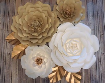 Large Paper Flowers-Set of 4