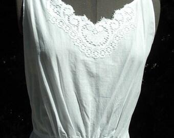 Victorian Restored White Cotton Petticoat Size 8 - item #101 Victorians