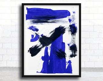 ABSTRACT painting, giclee, abstract giclee, fine art print, blue and black painting, modern painting, giclee art print, acrylic painting