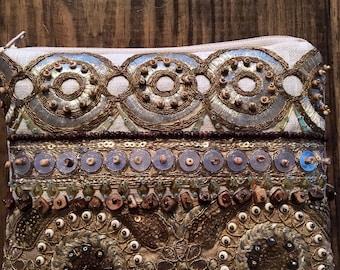 Bohemian Clutch. Embellished Bag.