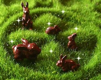 Miniature chocolate bunny, miniature Easter candy, ONE tiny chocolate easter bunny, fairy garden bunny, mini Easter, miniature Easter basket