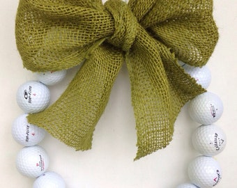 Burlap Golf Wreath