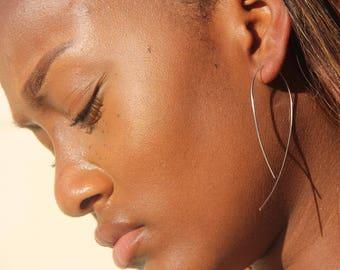 Open Hoop Earrings-Hoop Earrings-Simple Earring-Minimalalist Earring-Open Hoops-Gold Hoop Earrings-Gold Earrings-Sterling Silver-Gold Hoops