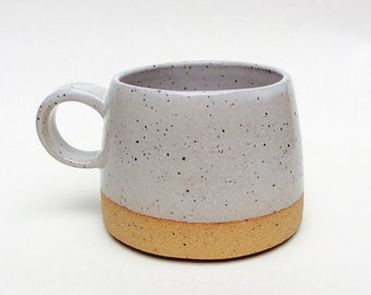 Made to Order : Speckled Coffee Mug with white glaze