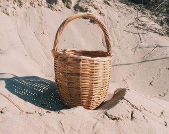 Ray Ray -wicker market basket bag