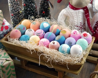 12 Bath Bombs Pack Gift Set Assorted Scent or You Choose, Perfect Gift Christmas Gift Set! Handmade in USA with only Natural ingredients