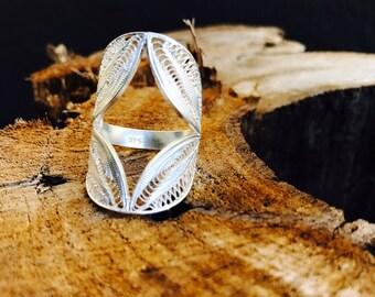 Antonella Handcrafted Silver Filigree Ring
