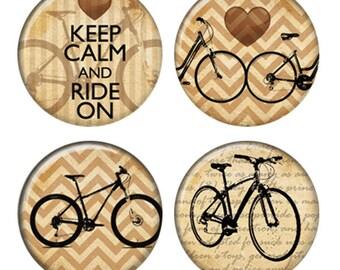 Aimants de vélos sépia ou macarons ou Flatback médaillons