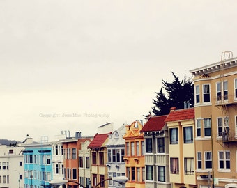 San Francisco Photography, Colorful House Art, San Francisco Photography, California Art Print, San Francisco House, San Francisco Print