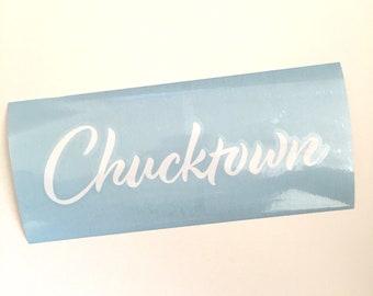 Chucktown Decal, Charleston Decal, Charleston SC Sticker